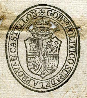 CASTELLÓN - Gobierno político superior de la provincia de Castellón - Año 1822