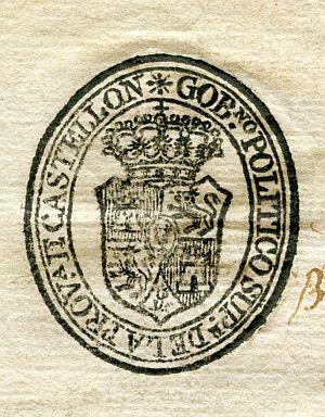 CASTELLÓN - Gobierno político superior de la provincia de Castellón - Año 1823