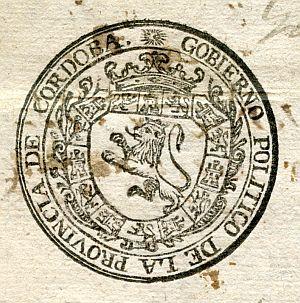 CÓRDOBA - Gobierno político de la provincia de Córdoba - Año 1823