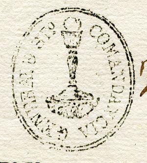 CORUÑA - Comandancia general de Santiago - Año 1838