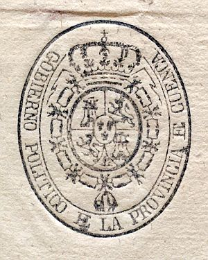 CUENCA - Gobierno político de la provincia de Cuenca - Año 1823