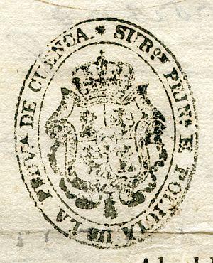 CUENCA - Subdirección principal de Policía de la provincia de Cuenca - Año 1839
