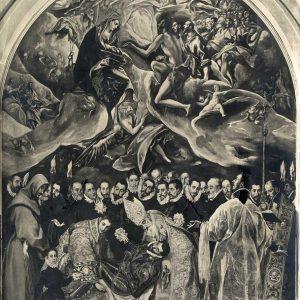 El Entierro del Señor de Orgaz_Iglesia de Santo Tomé_Foto de Anderson - Roma realizada hacia 1920