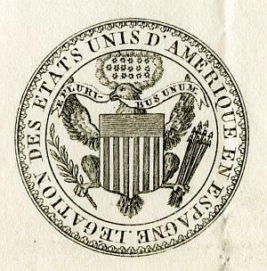 ESTADOS UNIDOS - Sello de la Legación de Estados Unidos en España - Año 1837