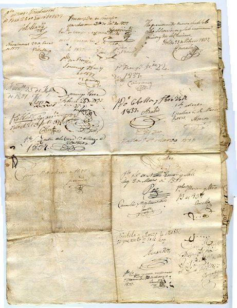 FRANCIA Pasaporte dado en Toulouse por el Prefecto de la Alta Garona a un ciudadano francés en 1836 Hoja 2 anverso