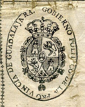 GUADALAJARA - Gobierno político de la provincia de Guadalajara - Año 1822