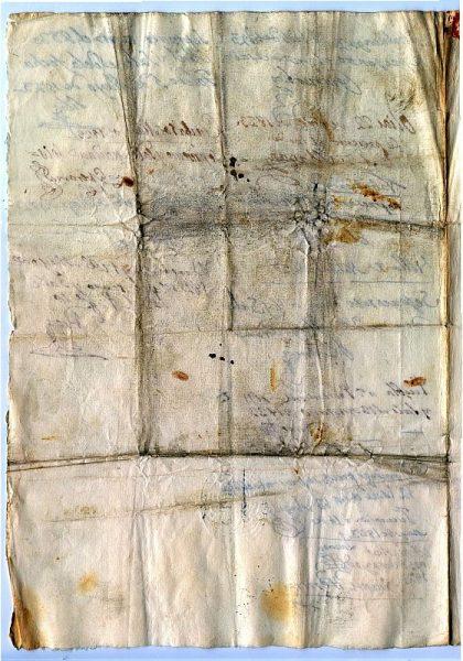 ITALIA Pasaporte dado en Nápoles por el Reino de las dos Sicilias a un ciudadano italiano Año 1822 Hoja 3 reverso