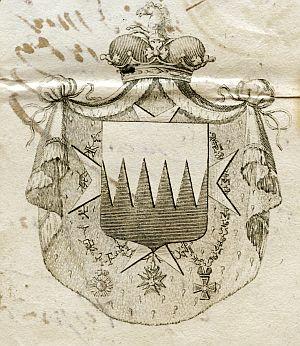 ITALIA - Sello de Alvaro Ruffo, príncipe de la Scaletta - Año 1822
