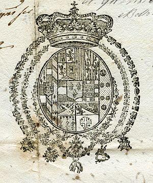 ITALIA - Sello del Reino de las Dos Sicilias - Año 1823