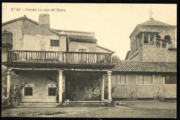 Jardín de la Casa del Greco-Postal editada por Fototipia Thomas hacia 1910_P-1519