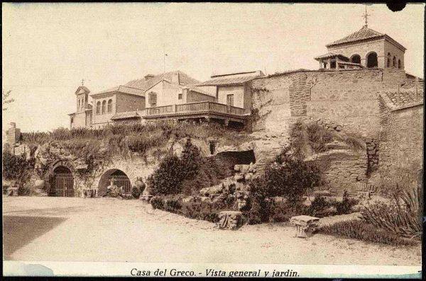 Jardín de la Casa del Greco-Postal editada por Rodríguez hacia 1950_P-2826