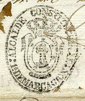 MADRID - Alcalde constitucional de Madrid 1ª demarcación - Año 1837