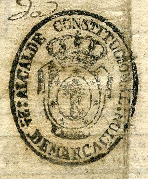 MADRID - Alcalde constitucional de Madrid 2ª demarcación - Año 1837