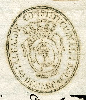 MADRID - Alcalde constitucional de Madrid 4ª demarcación - Año 1837