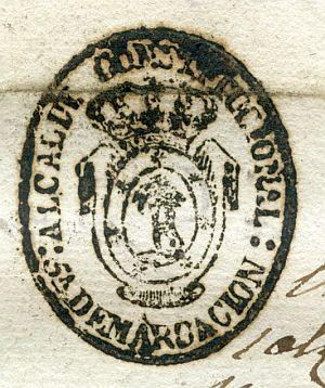 MADRID - Alcalde constitucional de Madrid 5ª demarcación - Año 1837
