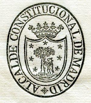 MADRID - Alcalde constitucional de Madrid - Año 1821
