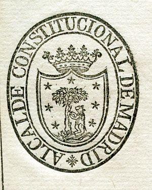 MADRID - Alcalde constitucional de Madrid - Año 1823