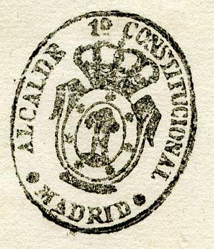 MADRID - Alcalde primero constitucional de Madrid - Año 1839