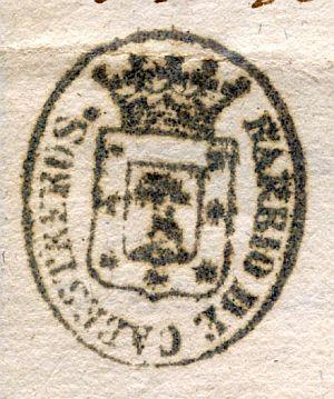 MADRID - Barrio de Cabestreros - Año 1842