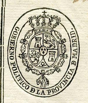 MADRID - Gobierno político de la provincia de Madrid - Año 1823