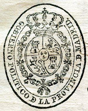 MADRID - Gobierno político de la provincia de Madrid - Año1822