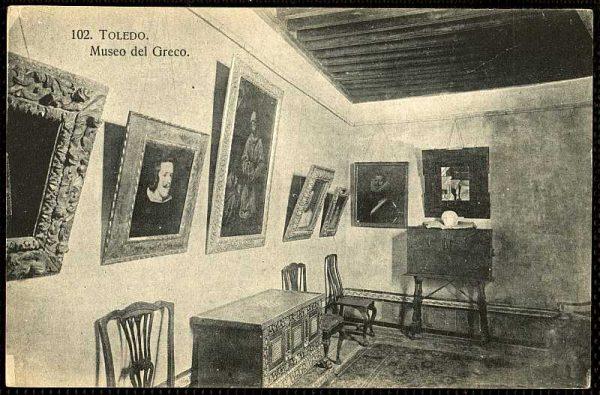 Sala de la Casa del Greco-Postal editada por Heliotipia Artística Española hacia 1928_P-1101
