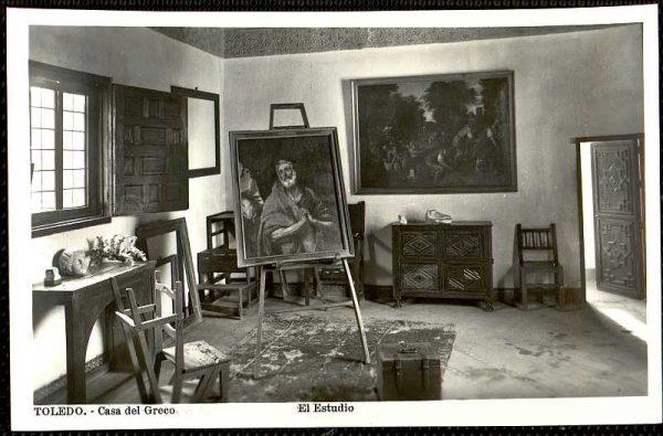 Sala de la Casa del Greco-Postal editada por Luis Arribas hacia 1958_P-1767