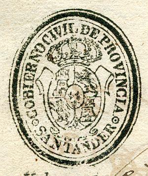 SANTANDER - Gobierno civil de la provincia de Santander - Año 1836