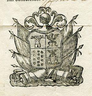 Sello de Jaime Moreno y La Corte, gobernador militar y político de Málaga - Año 1805
