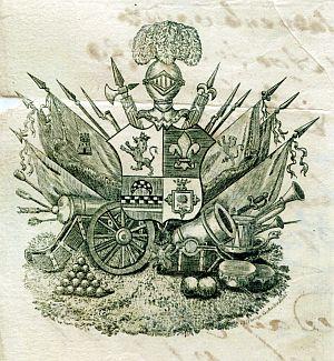 Sello de Joaquín de Ezpeleta y Enrile, gobernador político y militar de Cádiz - Año 1839