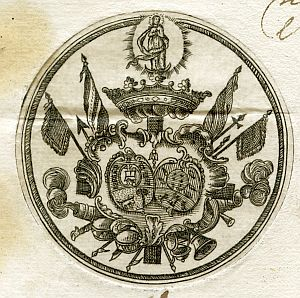 Sello de Joaquín de Monserrat, marqués de Cruillas - Año 1755