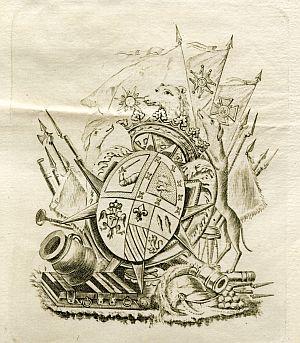 Sello de Juan Caro Sureda Valero y Togores, capitán general de Castilla La Nueva - Año 1828