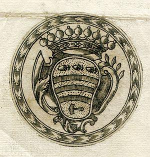 Sello de Luis de Nieulant, comandante general interino del Ejército - Año 1773