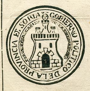 SORIA - Gobierno político de la provincia de Soria - Año 1823