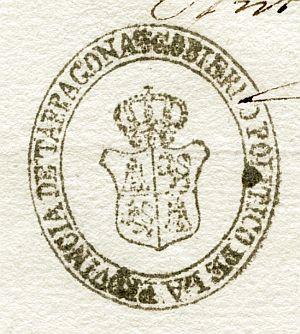 TARRAGONA - Gobierno político de la provincia de Tarragona - Año 1836