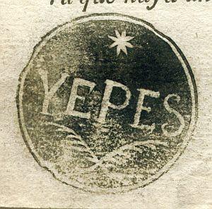 TOLEDO - Ayuntamiento de Yepes - Año 1823