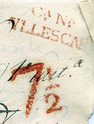 TOLEDO - Estafeta de Correos de Illescas - Año 1842