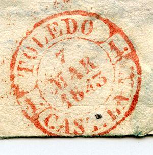 TOLEDO - Estafeta de Correos de la ciudad de Toledo - Año 1842