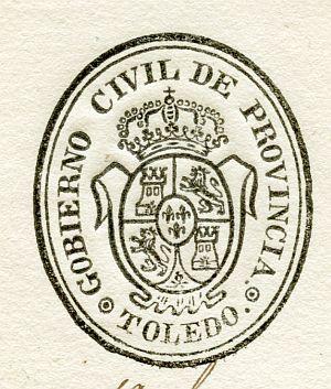 TOLEDO - Gobierno Civil de la provincia de Toledo - Año 1835