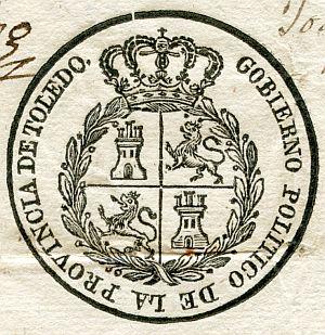 TOLEDO - Gobierno político de la provincia de Toledo - Año 1823