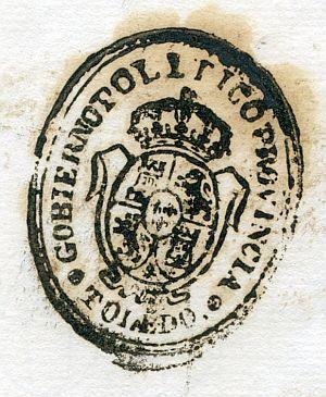 TOLEDO - Gobierno político de la provincia de Toledo - Año 1836
