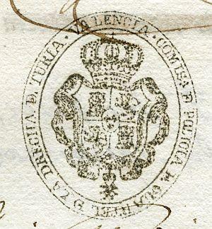 VALENCIA - Comisaría de Policía y cuartel de la Derecha del Turia de Valencia - Año 1836