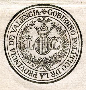 VALENCIA - Gobierno político de la provincia de Valencia - Año 1822