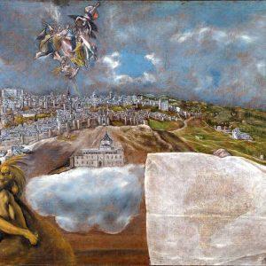 Vista y plano de Toledo de El Greco_Museo del Greco_Foto realizada por Antonio Pareja en 2011