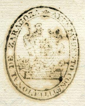 ZARAGOZA - Ayuntamiento constitucional de Zaragoza - Año 1837