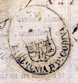 ZARAGOZA - Ayuntamiento de Almunia de Doña Godina - Año 1841