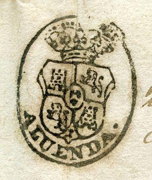 ZARAGOZA - Ayuntamiento de Aluenda - Año 1840