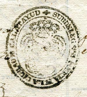 ZARAGOZA - Subdelegación principal de la ciudad de Calatayud - Año 1836