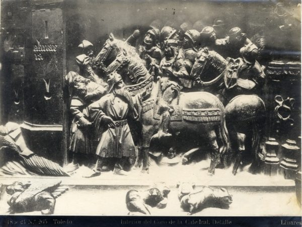 268 - Sillería baja del Coro - Escena de la rendición de Almería