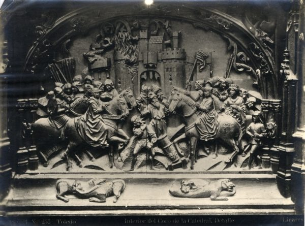 270 - Sillería baja del Coro - Escena de la toma de Moclín